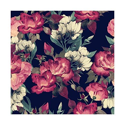 PRINTELLIGENT Floral Self Adhesive Wallpaper (Waterproof Vinyl, 27 sq ft, Multicolour)