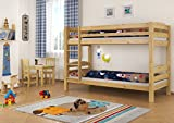 Erst-Holz® Stockbett Etagenbett Kiefer 90x200 massives Hochbett f. Kinderzimmer Doppelbett Rollrost 60.10-09