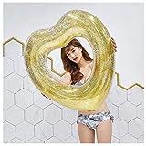 WGE Mode-Entwurfs-Rosa-Herz-Form-aufblasbarer Schwimmen-Schwimmer-Ring-Schwimmen-Ring-Erwachsener...