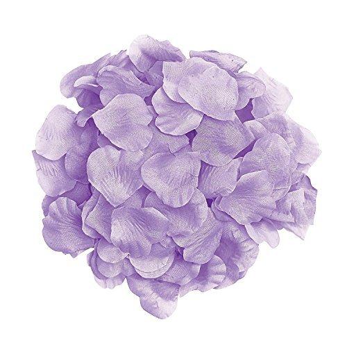 (1000pcs White Silk Rose Petals Artificial Flower Wedding Party Vase Decor Bridal Shower Favor Centerpieces Confetti (Lavender) by KiwiBaby)