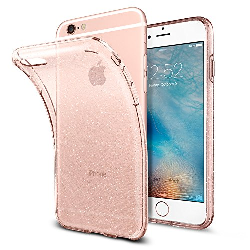 Price comparison product image iPhone 6 / 6S Case, Spigen® [Liquid Crystal] [Glitter Rose Crystal] Premium TPU Glitter Case with Slim Protection and Crystal Clarity, slim thin clear rose gold case cover for iPhone 6 (2014) / iPhone 6s (2015) - (035CS21416)