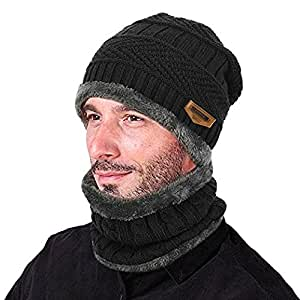 4ca01c736 Buy Aeoss A548BLK Double-Weave Beanie (Black) Online at Low Prices in India  - Amazon.in