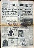 AURORE (L') [No 1594] du 27/10/1949 - BIDAULT SE PRESENTE AVEC UN CABIENT VIRTUEL - TROP D'AVIONS SUISSES TOMBAIENT EN PANNE - FORTUNE VALAT.