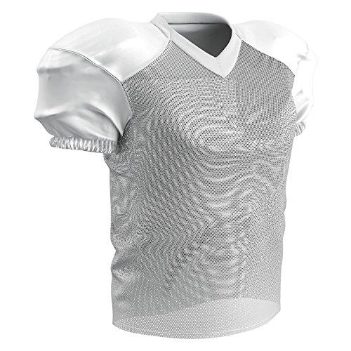 Champpro Trainings-Fußballtrikot, Stretch, Polyester, Herren, Adult Stretch Polyester Practice Football Jersey, weiß, Medium -