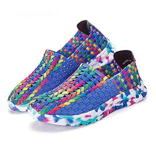 Mr. LQ - Frauen-Art- und Weiseelastische Gewebe-beiläufige Schuhe Blue