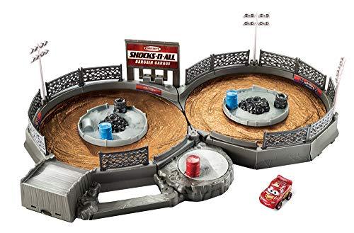 Disney- Cars Playset Miniracers, Multicolore, FLG71