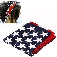 SODIAL (R) Fascia per cappelli a stelle e strisce bandiera USA 100% di alta qualita' del tessuto