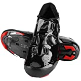 VGEBY1 Zapatillas para Ciclismo, Zapatillas para Bicicleta de montaña con Orificios de Aire y Rayas Reflectantes, Ciclismo Deportivo Carreras Transpirables(43)