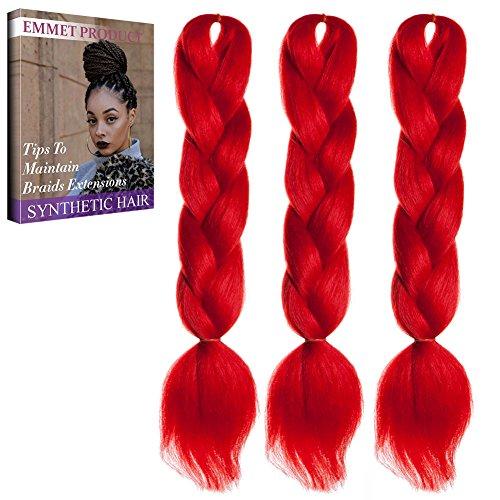Jumbo Braids-Premium Qualität 100% Kanekalon Braiding Haarverlängerung Full Bundles 100g / pc Synthetik Haar Ombre 24Inch 3Pcs / lot Hitzebeständig, lange Zeit mit-37 Farben 2Tone & 3Tone, Garantie 1 Woche (Zubehör Großhandel Kostüme)