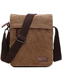 SUPA MODERN® Canvas Messenger Bag Shoulder Bag Laptop Bag Satchel Bag  Bookbag School Bag Working Bag Crossbody Bag for Men… c9c2d67b07aa3
