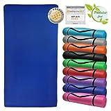 Tappetino da yoga ENERGY 190 cm x 100 cm x 1,5 cm materassino da pilates, ginnastica, sport fitness fisio, morbido, Colore:Balance Blue