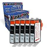 Alaskaprint 5X Druckerpatronen Kompatibel zu HP 364 XL 364xl Schwarz BK Black für HP Photosmart 5510 5511 5512 5514 5515 5520 5522 5524 6510 6520 6512 6515