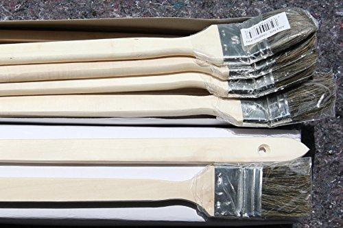 24 x Heizkörperpinsel 50mm mit grauen Chinaborsten zum Beschichten mit lösemittelhaltigen oder wasserverdünnbaren Wandfarben