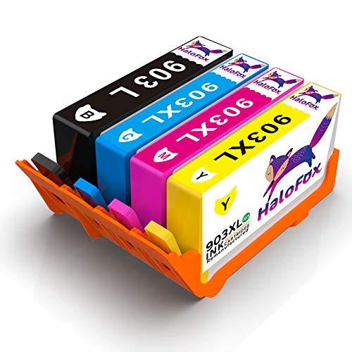 HaloFox 4 Tintenpatronen Hohe Ausbeute für HP 903XL Ersetzen für HP OfficeJet Pro 6960 6970...