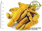 KURKUMA - GANZE GETROCKNETE WURZEL 100g Curcuma longa, root whole (wurzeln)