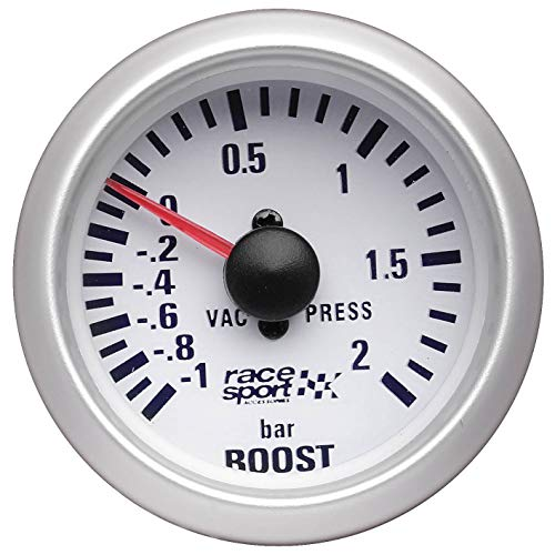 Sumex Gaug701 Race Sport - Manometro Pressione Turbo Race Sport, 52mm, 12V