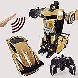 AIOJY 8 ans garçon enfants bambins cadeaux transforment des véhicules électroniques de voiture avec un bouton Transformation et réalistes enfants déformation induction jouet Robot garçons jouant de No