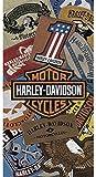 Managal Harley 11897Harley Patches–Strandtuch Baumwolle Mehrfarbig 75x 150x 1cm