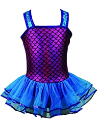 Reflectionz Little Girls Fuchsia Turquoise Sequin Mermaid Tutu Dress 2-6
