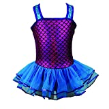 Reflectionz Little Girls Fuchsia Turquoise Sequin Mermaid Tutu Dress 2-6