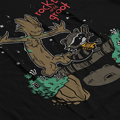 Guardians Of The Galaxy Rocket And Groot Women's Sweatshirt Black