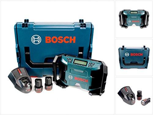 Preisvergleich Produktbild Bosch GML 10,8 V-LI Akku Radio in L-Boxx + 2 x GBA 10,8 V 2,5 Ah Akku + AL 1130 CV Schnelllader