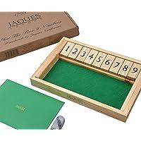 Shut-the-Box-Dice-Spiel-Luxus-9-Zahlen-Klappbrett-spiel-Jaques Shut the Box Dice Spiel – Luxus 9 Zahlen Klappbrett spiel – Jaques -