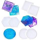 Yznlife - Stampo in silicone per sottobicchieri, 6 pezzi, forma esagonale, per colata con resina, cemento, argilla polimerica