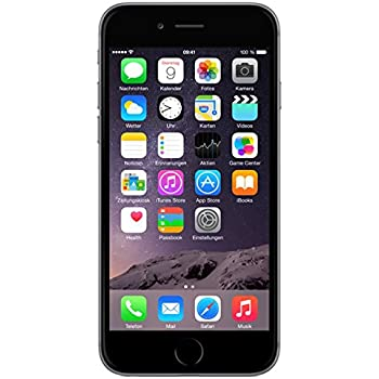 Apple iPhone 6 Smartphone (4,7 Zoll (11,9 cm) Touch-Display, 16 GB Speicher, iOS 8) grau