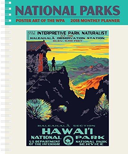 National Parks Poster Kunst des WPA Monatsplaner zeigen Kalender 2018