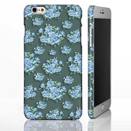 Étui avec motifs à fleurs de style vintage pour iPhone Designs par iCaseDesigner sur mesure pour la gamme iPhone., plastique, 10. Pink Roses on White Background, iPhone 5/5S 14. Blue Flowers on Dark Teal Background