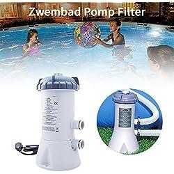 Destinely Pompe de Piscine, Filtre épurateur à Cartouche, Épurateur à Cartouche, Pompe de Filtration à Cartouche 2006 litres/Heure pour INTEX28604/58604 Piscine Hors Sol