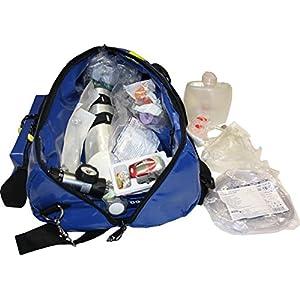 Sauerstofftasche aus Plane mit 2 Liter Sauerstoffflasche und gegelbarem Druckminderer 0-25 l/min