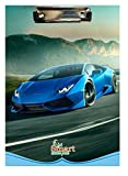 #7: Srushti Manufacturing Product Pvt. Ltd. Exam Pad Designss of Cars and Bikes in Multicolored Pack of 4 Pices
