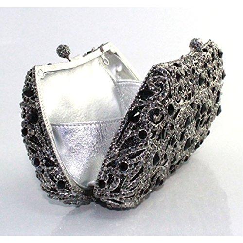 Borsa Del Partito Di Modo Del Sacchetto Di Sera Del Diamante Delle Donne Black