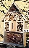 Insektenhotel groß, BTV natur hell, Insektenkasten, farbige Nistkästen Holz für Insekten, als Ergänzung zum Meisen Nistkasten, Meisenkasten oder zum Vogelhaus - grosses Insektenhotel, Insektenhotels, Futterhäuser, Vogelfutterhaus,Futterstation für Vögel Insektenhäuschen - ökologische biologische natürliche Blattlausbekämpfung - I- Tolle Farbwahl – Marienkäferhaus Marienkäfer Marienkäferkasten Schmetterlingshaus Schmetterlinge Gartendeko