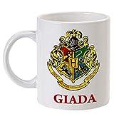 Tazza mug 11oz Stemma Hogwarts scuola di magia Harry Potter inspired PERSONALIZZATA CON IL TUO NOME