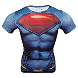 Samanthajane Clothing -  T-shirt - Uomo Multicolore Man of Steel Medium