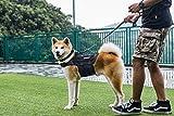 1T OneTigris MOLLE Hundeweste Atmungsaktiv Hunde Harness Verstellbar Hundegeschirr für Mittlere und große Hunde (L, Schwarz)
