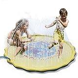 Sprinkle und Splash Spielmatte, 66.93in-Durchmesser Splash Play Pad, Spaß Wasser aufblasbare Outdoor-Matte Spielzeug für heiße Sommer-Schwimmen Party Beach Pool spielen, Spaß Wassermatte Spielzeug für Baby, Kind, Kind