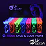 UV Glow Neon Face and Body Paint - 10ml Wholesale Case of 96 - Fluorescent