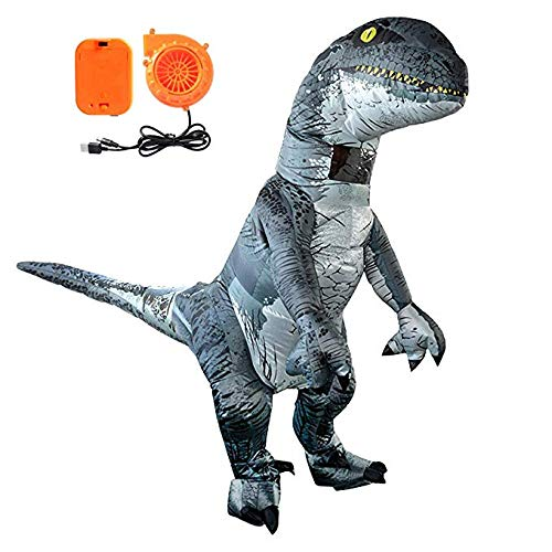 Tacobear Gonfiabile Dinosauro Costume Velociraptor Costumi di Halloween Dinosauro Costumi per Adulti