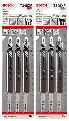BOSCH T345XF BIM 6er-Pack Stichsägeblätter von BOSCH