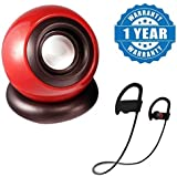 Drumstone Rechargeable Multimedia Speakers For PC/Laptop/Mobile With QC10 Jogger Wireless Bluetooth Headset Compatible With Xiaomi, Lenovo, Apple, Samsung, Sony, Oppo, Gionee, Vivo Smartphones (One Year Warranty)