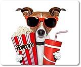 Alfombrilla para ratón/Mouse Pad - perro con gafas de sol y palomitas | 01