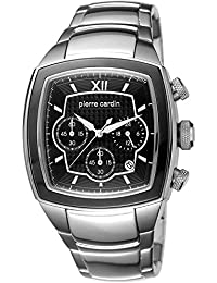 Pierre Cardin General Men's Quartz Watch with Black Dial Chronograph Display and Silver Stainless Steel Bracelet PC104481S07