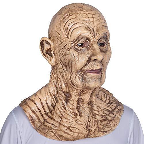 Für Erwachsene Männliche Kostüm - WULIHONG-MaskeRealistic Latex Alter Mann Maske Männliche Verkleidung Halloween Menschen Kostüm Erwachsenen Kopf Horror Maske
