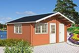 Gartenhaus PEDRO E 70 Blockhaus 505x505cm 70mm Blockhaus Holzhaus