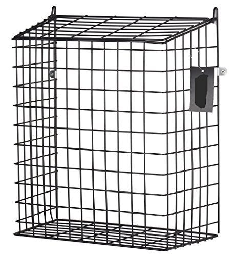 DWD Ãu201a® Large Black Letter Box Door Cage Guard Protect Mail Post Dog