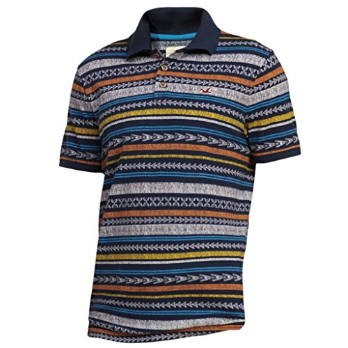 hollister-mens-patterned-tipped-pique-polo-shirt-tee-size-xl-navy-print-623321409